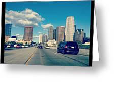 Dtla Greeting Card by Nena Alvarez