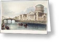 Dublin, 1842 Greeting Card