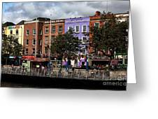 Dublin Building Colors Greeting Card by John Rizzuto