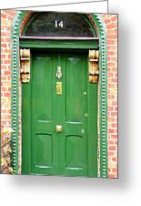 Dublin Door Three Greeting Card