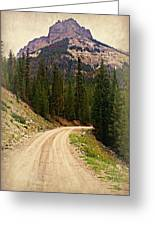Dubois Mountain Road Greeting Card
