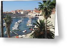 Dubrovnik Croatia Port Greeting Card
