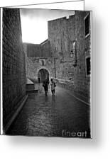 Dubrovnik In The Rain Greeting Card
