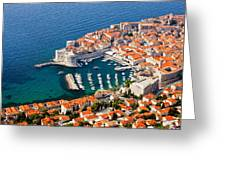 Dubrovnik Old City Aerial View Greeting Card