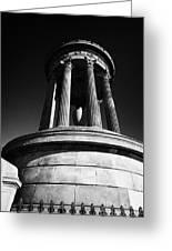 Dugald Stewart Monument Calton Hill Edinburgh Scotland Uk United Kingdom Greeting Card