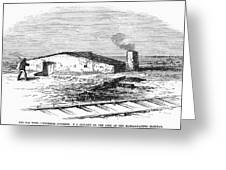 Dugout Home, 1871 Greeting Card