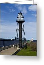 Duluth Lighthouses 1 Greeting Card