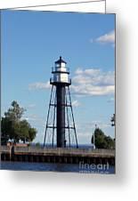 Duluth Mn Bridge Lighthouse Greeting Card