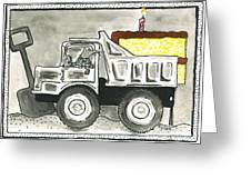 Dump Truck Birthday Greeting Card