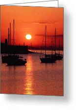 Dun Laoghaire Harbour, Co Dublin Greeting Card