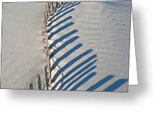 Dune Fence Graphic Greeting Card