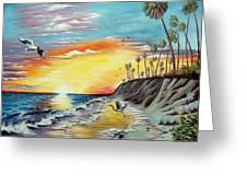 Dune Sunset Reflections Greeting Card