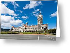 Dunedin Railway Station During A Sunny Day  Greeting Card