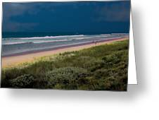 Dunes And Ocean Divided Greeting Card