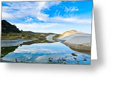 Dunes At The Beach Side During Morning  Greeting Card