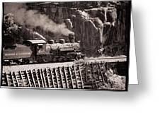Durango And Silverton Steam Train Greeting Card