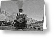 Durango Silverton Bw Painterly 3 Greeting Card