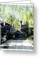 Durango Silverton Steam Locomotive Greeting Card