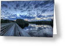 Dusk At The Abol Bridge Greeting Card