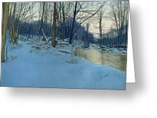 Dusk In The Woods Greeting Card