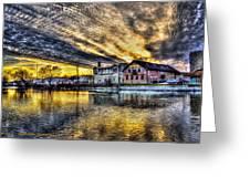 Dusk On The Fox River Greeting Card by Dan Crosby
