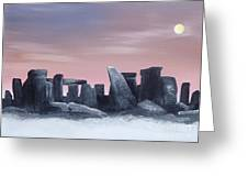 Dusk On The Winter Solstice At Stonehenge 1877 Greeting Card