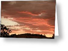 Dusk With Color Greeting Card