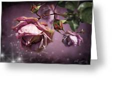 Dusky Pink Roses Greeting Card