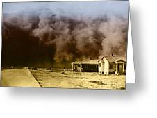 Dust Storm, 1930s Greeting Card