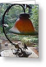Dusty Old Lamp In Morning Light Greeting Card
