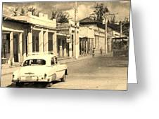 Dusty Old Town Greeting Card