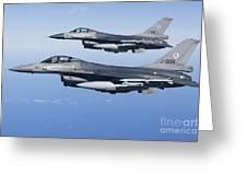 Dutch F-16ams During A Combat Air Greeting Card