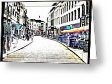 Dutch Shopping Street- Digital Art Greeting Card
