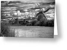 Dutch Windmills Greeting Card