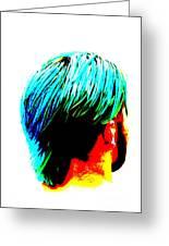 Dyed Hair Man Greeting Card