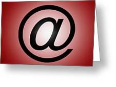 E-mail Symbol Greeting Card
