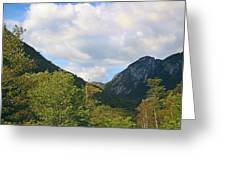 Eagle Cliff Seen Froom Boise Rock In Franconia Notch Greeting Card