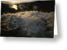 Eagle Falls Plunges Toward Lake Tahoe Greeting Card