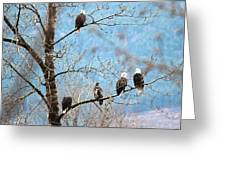 Eagle Family Greeting Card