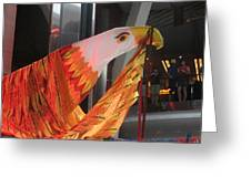 Eagle On The Ship Greeting Card