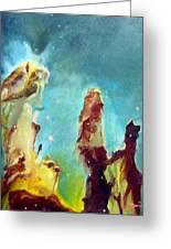 Eagle Pillars Greeting Card by Bernard MORIN