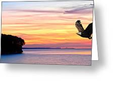 Eagle Sunrise Greeting Card