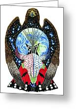 Eagle Tipi Greeting Card by Tim McCarthy