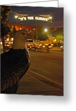 Eagle Watching Grants Pass Night Greeting Card