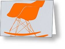 Eames Rocking Chair Orange Greeting Card by Naxart Studio