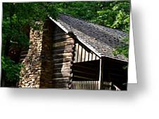 Early 19th Century Log Cabin Greeting Card