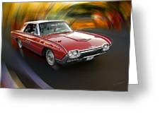 Early 60s Red Thunderbird Greeting Card