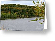 Early Autumn Shoreline Greeting Card