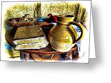 Early Colonial Still Life Greeting Card