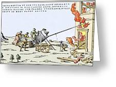 Early Firefighting Equipment, 1569 Greeting Card
